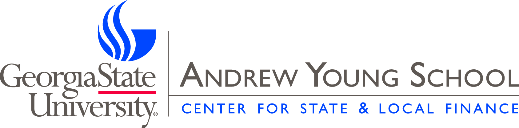 Georgia State University's Andrew Young School of Policy Studies - Center for State and Local Finance Logo